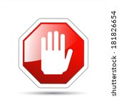 hand sign no entry | Shutterstock . vector #181826654