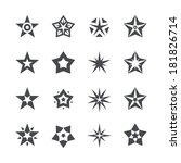 stars set on a white background | Shutterstock . vector #181826714