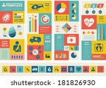 flat medical infographics... | Shutterstock .eps vector #181826930
