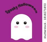 halloween spooky greeting card...   Shutterstock .eps vector #1818271853