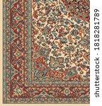 vintage persian design in...   Shutterstock .eps vector #1818281789