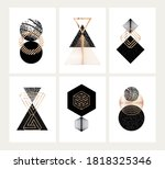 set of posters with abstract... | Shutterstock .eps vector #1818325346