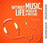 bright headphones music... | Shutterstock .eps vector #181832600