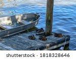 An Old Metal Fishing Boat Next...