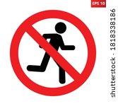 no running sign. vector... | Shutterstock .eps vector #1818338186