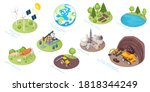 natural resources icons  eco... | Shutterstock . vector #1818344249