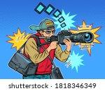 photographer reporter... | Shutterstock .eps vector #1818346349