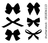 set of vintage bows | Shutterstock .eps vector #181836113