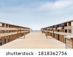 Wooden jetty, captured with long shutterspeed