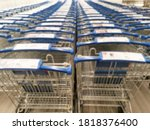 Blur Image Row Of Shopping...