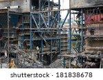 metallic building being... | Shutterstock . vector #181838678