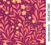 cute vector floral seamless...   Shutterstock .eps vector #1818387380