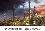 oil indutry refinery   factory   Shutterstock . vector #181840910
