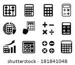 black calculator icons set | Shutterstock .eps vector #181841048