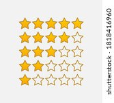 top rating stars icon isolated...