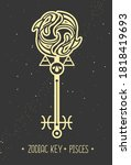 modern magic witchcraft card... | Shutterstock .eps vector #1818419693
