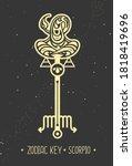 modern magic witchcraft card...   Shutterstock .eps vector #1818419696