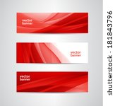 Set Of Vector Abstract Wavy Re...