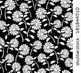 white wild flowers seamless...   Shutterstock . vector #181844510