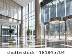 empty hall in the modern office ... | Shutterstock . vector #181845704