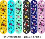 vector set of ornate vertical...   Shutterstock .eps vector #1818457856