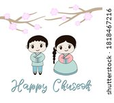 korean traditional holiday... | Shutterstock .eps vector #1818467216