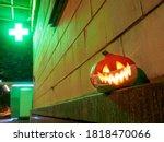 Halloween Pumpkin With A...
