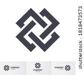 complex geometric contemporary... | Shutterstock .eps vector #1818473573
