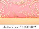 3d rendered studio with spring... | Shutterstock . vector #1818477839