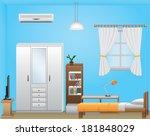 bedroom interior | Shutterstock .eps vector #181848029