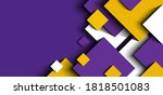 abstract background 3d purple ... | Shutterstock .eps vector #1818501083