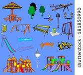 outdoor park vector elements... | Shutterstock .eps vector #181850990