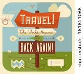 traveling illustration with... | Shutterstock .eps vector #181851068