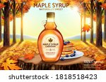canadian maple syrup ad with... | Shutterstock .eps vector #1818518423