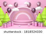 christmas day for party and...   Shutterstock . vector #1818524330