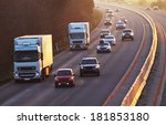 highway with cars and truck | Shutterstock . vector #181853180
