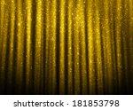 gold sparkle glitter curtains... | Shutterstock . vector #181853798