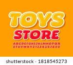 vector bright emblem toys store....   Shutterstock .eps vector #1818545273