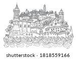 vector fantasy urban... | Shutterstock .eps vector #1818559166