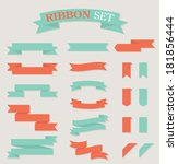 ribbon set | Shutterstock .eps vector #181856444