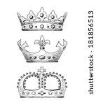 crown set | Shutterstock .eps vector #181856513