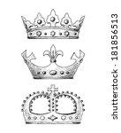 crown set | Shutterstock .eps vector #181856513