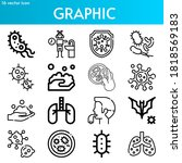 graphic line icon set on theme... | Shutterstock .eps vector #1818569183