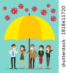 covid 19 protection concept... | Shutterstock .eps vector #1818611720