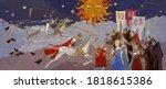 coronavirus second wave ancient ... | Shutterstock .eps vector #1818615386