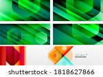 geometric abstract backgrounds... | Shutterstock .eps vector #1818627866
