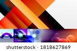 geometric abstract backgrounds... | Shutterstock .eps vector #1818627869