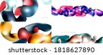 bubbles abstract background set.... | Shutterstock .eps vector #1818627890