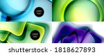 glass fluid shapes abstract... | Shutterstock .eps vector #1818627893