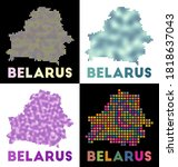 belarus map. collection of map... | Shutterstock .eps vector #1818637043